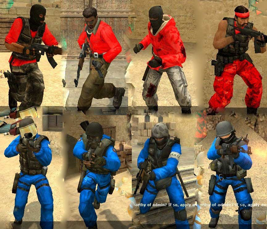 red vs blue skins