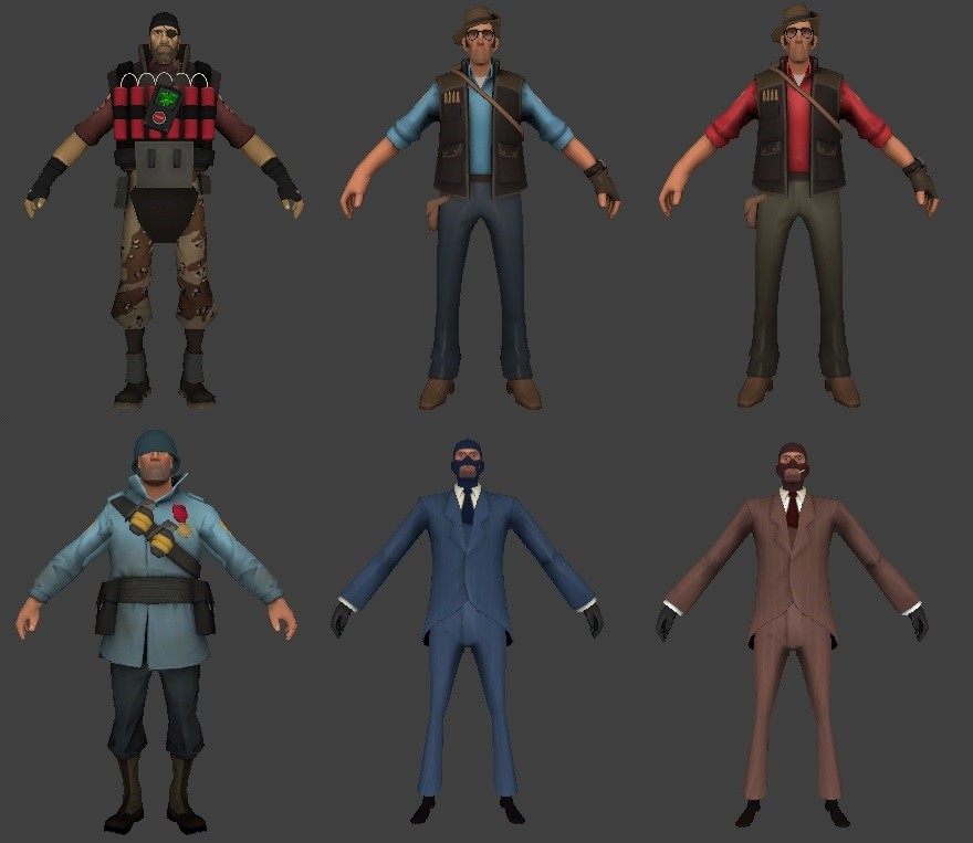 Пак скинов  Team Fortress для CSS