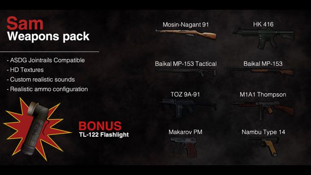 Sam Weapons Pack