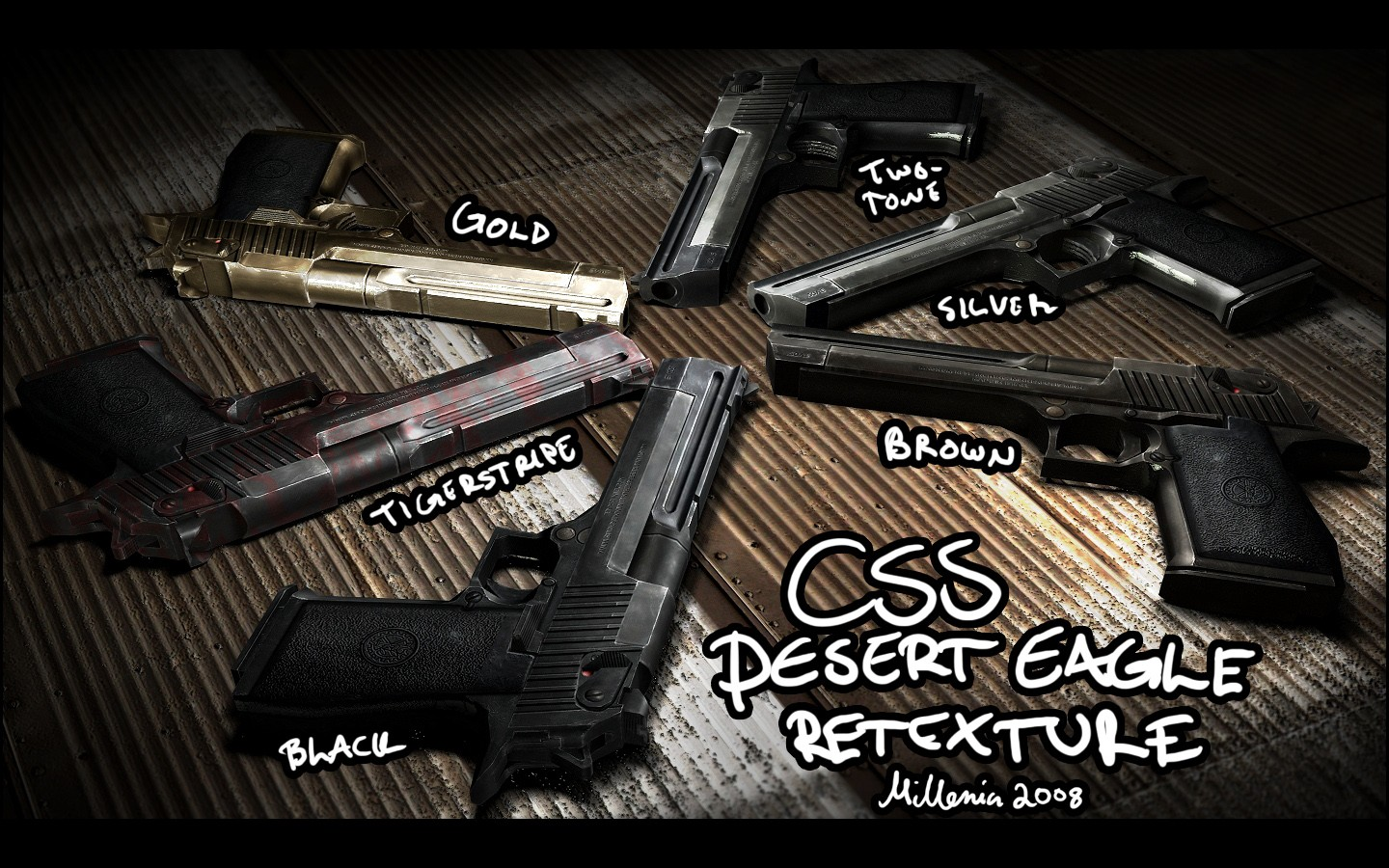 Desert Eagle для CSS — Deagle + mego-pack animations
