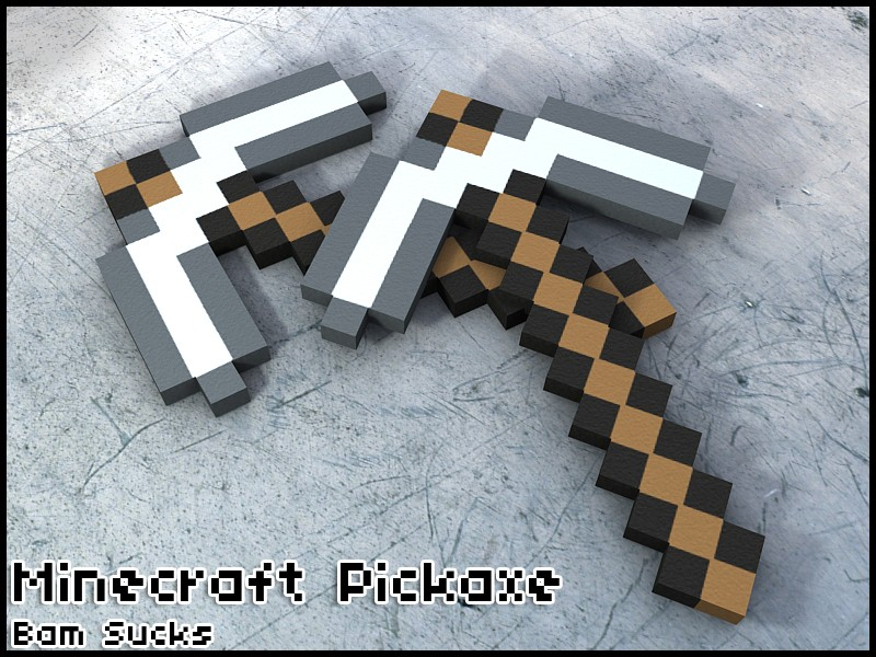 Ножи для css — Minecraft like Pickaxe