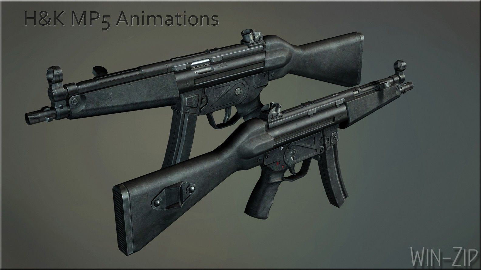 MP5 для CSS — H&K MP5 Animations